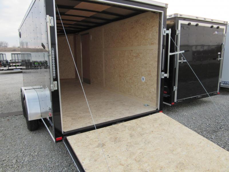 2019 American Hauler 7 x 14 Arrow Slant wedge rear ramp Enclosed Cargo Trailer