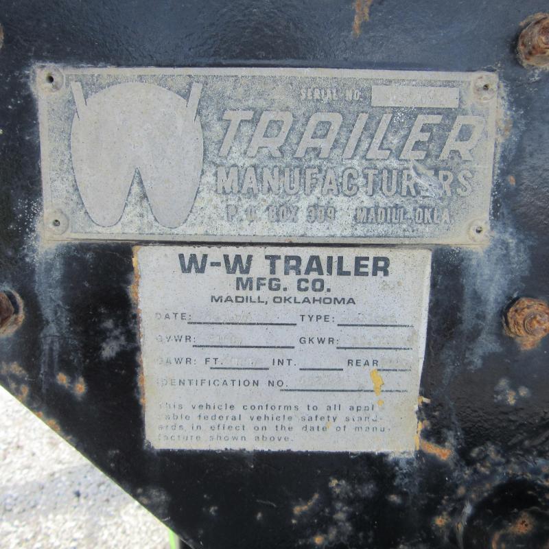 1977 Other 8X20 GN DECKOVER Flatbed Trailer