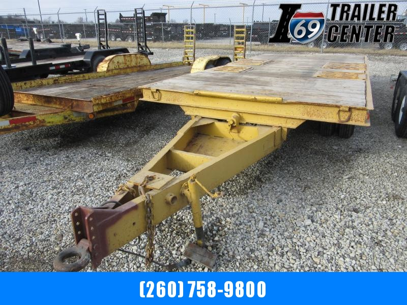 1969 Miller Deckover Pintle Equipment Trailer