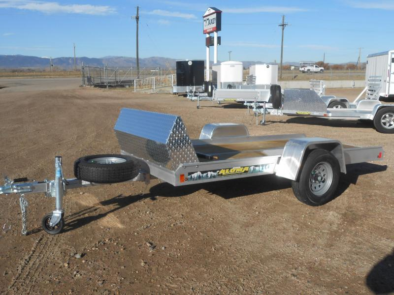 2020 Aluma 8605F-TILT Aluminum Single Place Snowmobile Trailer