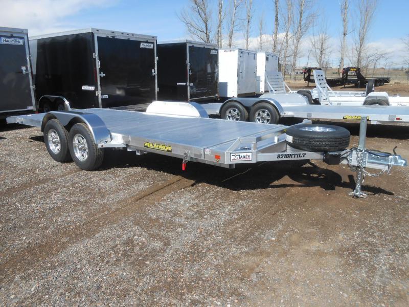 2021 Aluma 8218H-Tilt All Aluminum Tilt Deck Car / Racing Trailer
