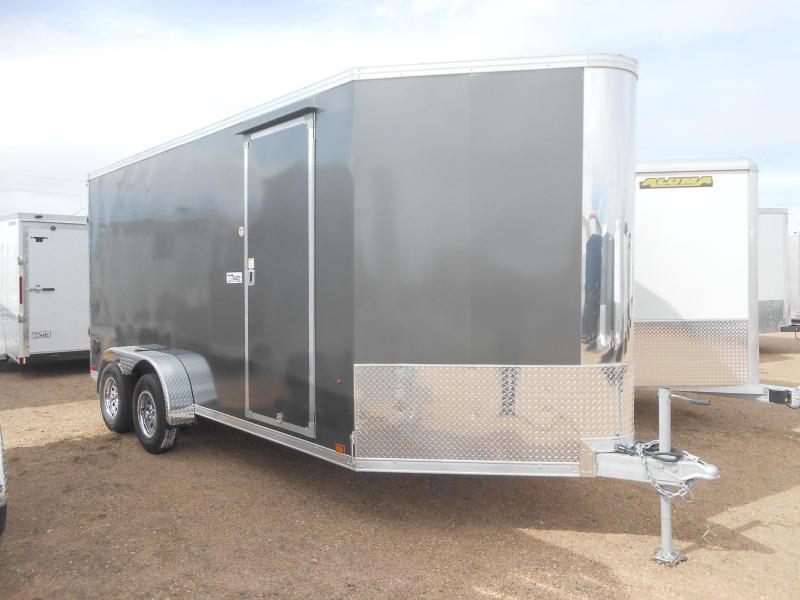 2020 Everlite Enclosed Trailer AEWL7X16TE2-RD All Aluminum