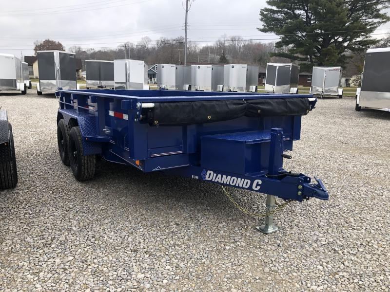 "2020 77""x12' 9890lb. GVWR Diamond C Dump. 22169"