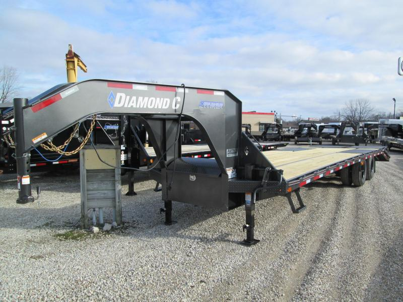 "2020 FMAX MR210 25'+5'x102"" 25K Diamond C Engineered Beam Equipment Trailer. 23340"
