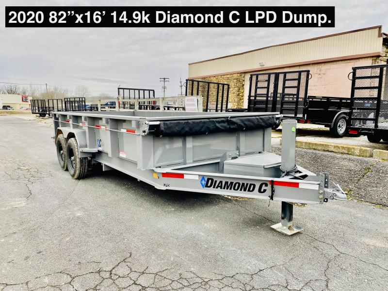 "2020 16'x82"" 14.9K Diamond C LPD Dump Trailer. 24681"