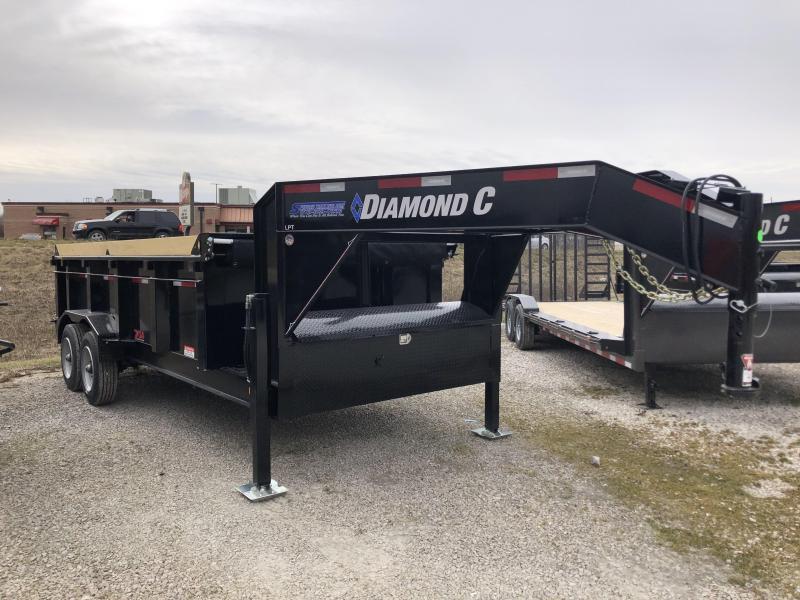 """2020 16'x82"""" 14.9K Diamond C Gooseneck Dump Trailer. 24637"""