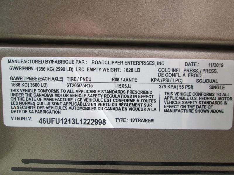 2020 12x77 RBT Diamond C Utility Trailer. 22998