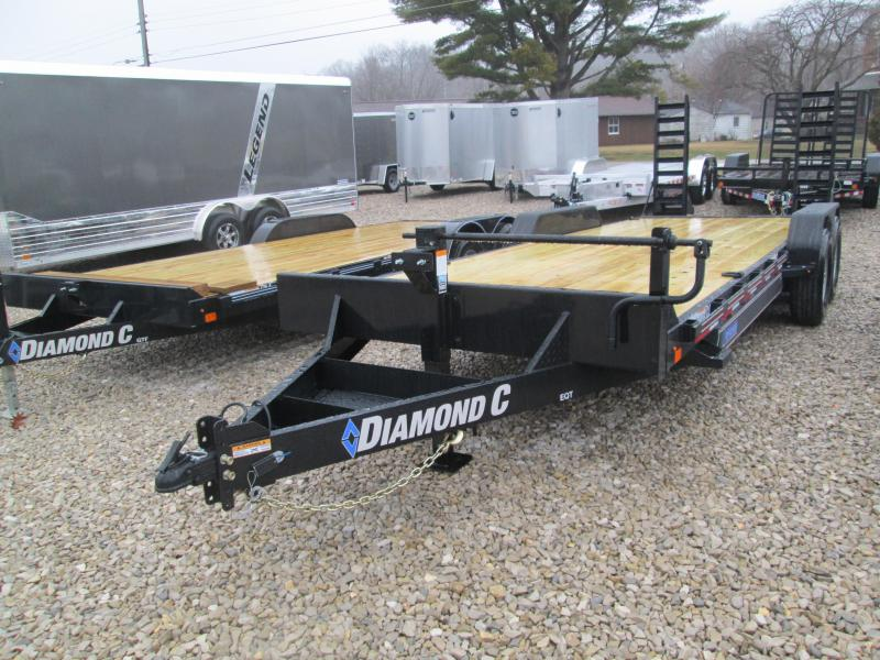 "2020 20'+2'x82"" 14.9K Diamond C EQT Equipment Trailer. 24051"