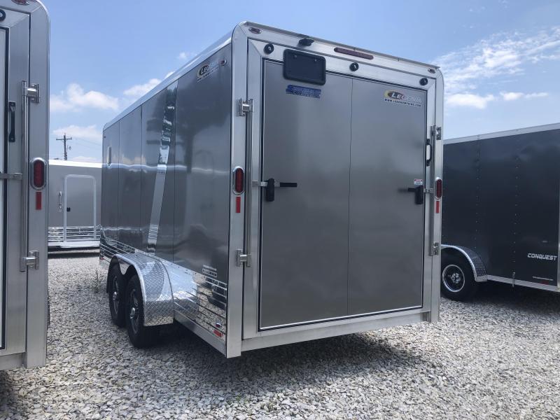 2020 Legend DVN 7x16 Plus V-nose Aluminum Enclosed Trailer. 17792