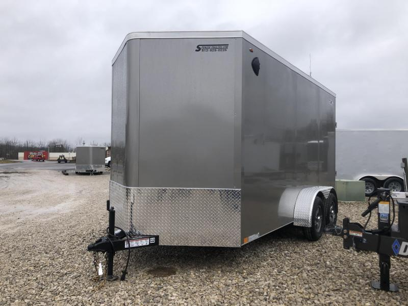2020 7x14+V 7K Legend Cyclone Enclosed Trailer. 17618
