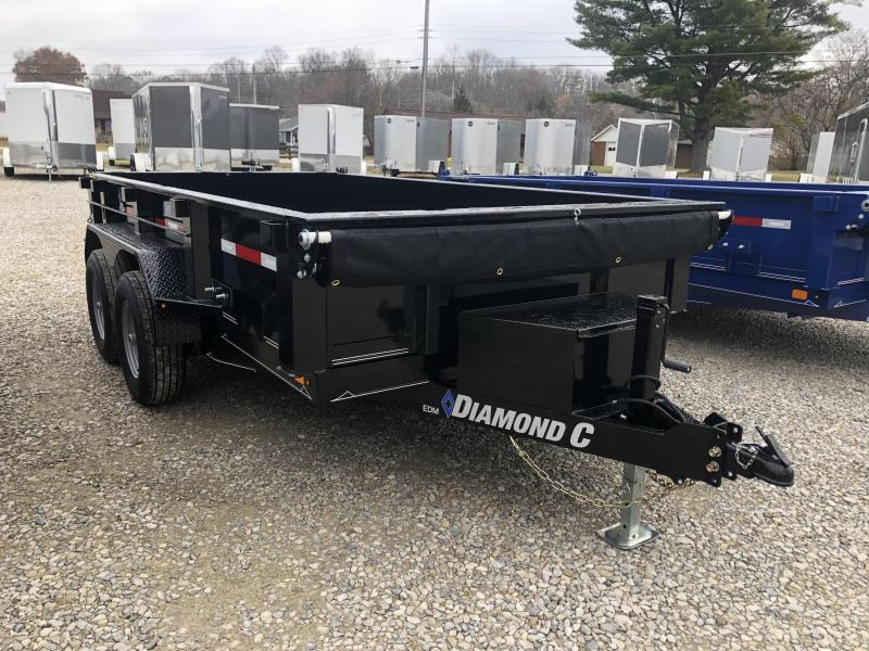 "2020 77""x12' 9890lb. GVWR Diamond C Dump. 22166"
