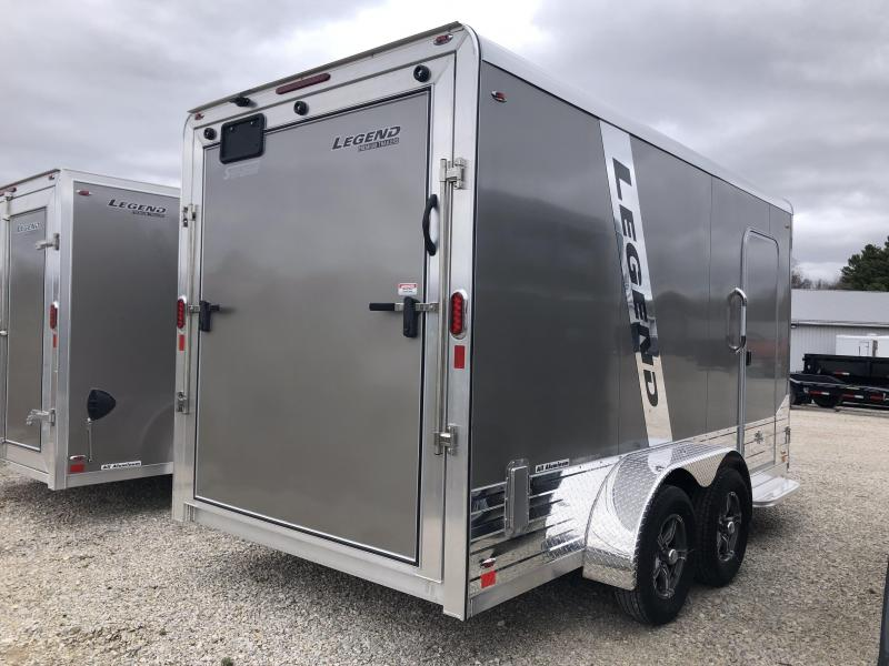 2020 7x14+V-Nose 7K Legend DVN Enclosed Trailer. 17972