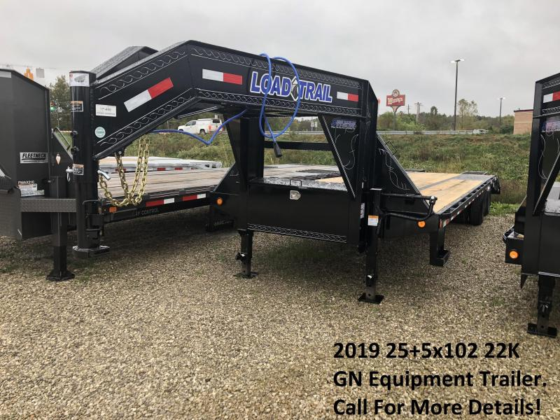 2019 25+5x102 22K Load Trail GN Equipment Trailer. 75489