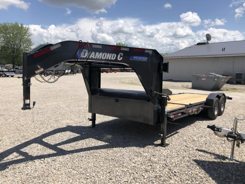 2020 16+6x82 14.9K HDT Diamond C Gooseneck Equipment Trailer. 28800