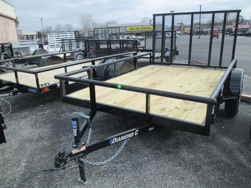2020 10x77 GSA Diamond C Utility Trailer. 23435
