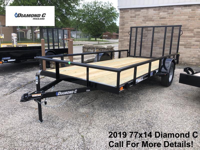 2019 77x14 Diamond C Utility Trailer. 14313