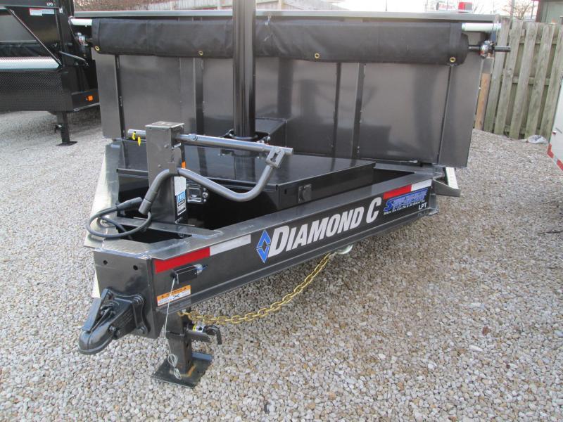 7 GAUGE FLOOR, SIDES, AND FENDERS 2020 Diamond C Trailers LPT  20K GVWR Dump Trailer