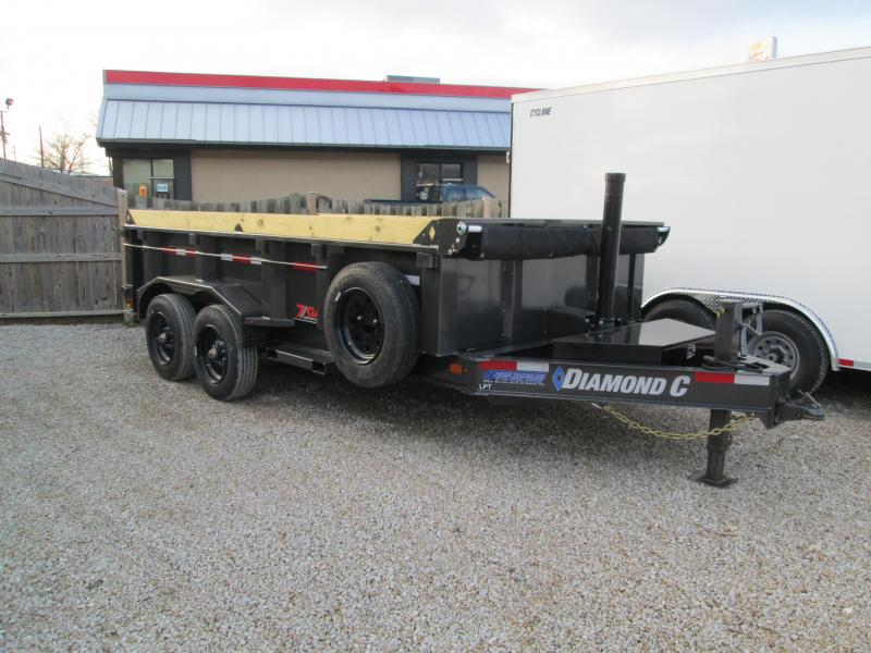 7 GAUGE FLOOR, SIDES, AND FENDERS 2020 Diamond C Trailers LPT  20K GVWR Dump Trailer