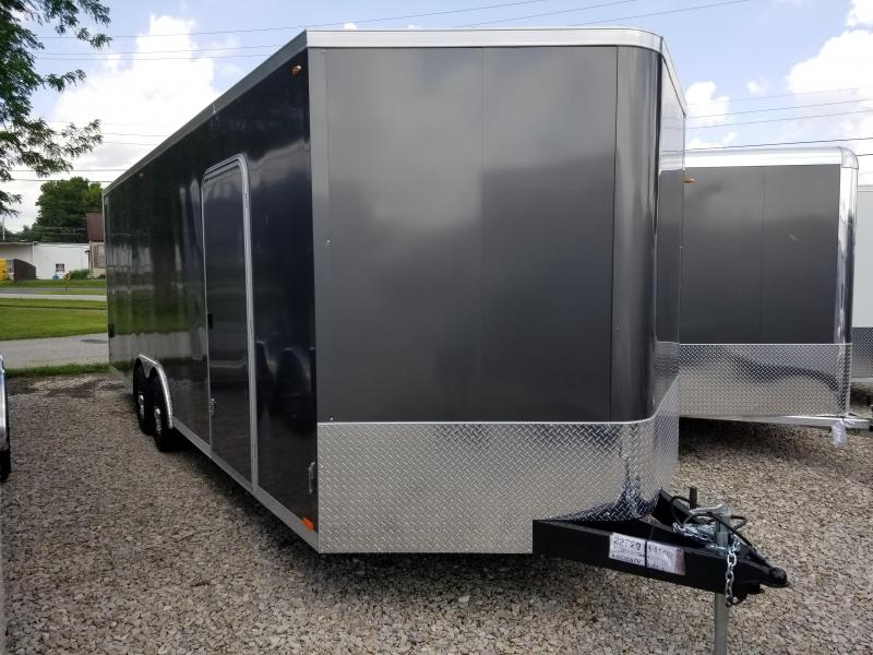 2020 LEGEND  STV Cyclone 8.5x24 Plus V-nose Enclosed Car Hauler  17790