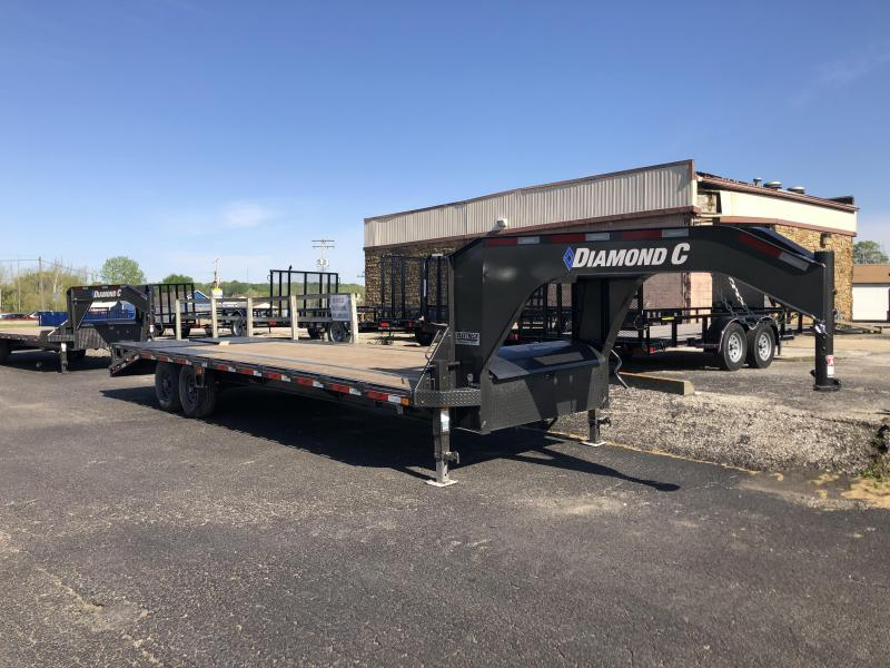 "2020 FMAX 207MR 20'+5'x102"" 15.5K Diamond C Engineered Beam Equipment Trailer. 27112"