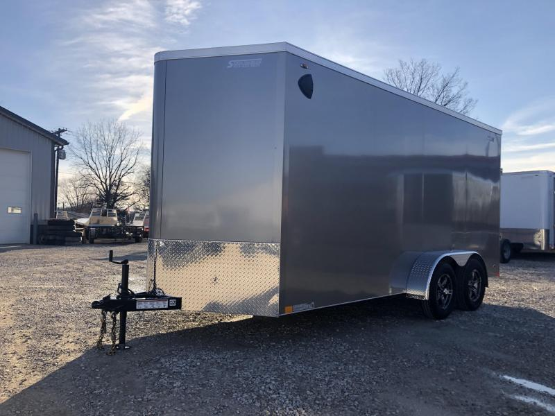 2020 7x14+V-Nose 7K Legend Cyclone Enclosed Trailer. 17620