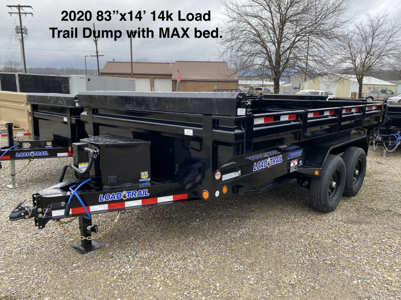 2020 83x14 14K Load Trail Dump Trailer with MAX Bed. 99008
