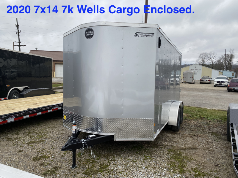 2020 7X14 7K Wells Cargo Enclosed Cargo Trailer. 00489