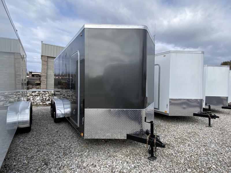 2020 7x16'+2' V-Nose 7K Legend Cyclone Enclosed Trailer. 17616