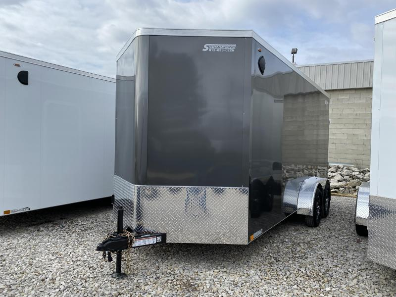 2020 7x16'+2' V-Nose 7K Legend Cyclone Enclosed Trailer. 17616