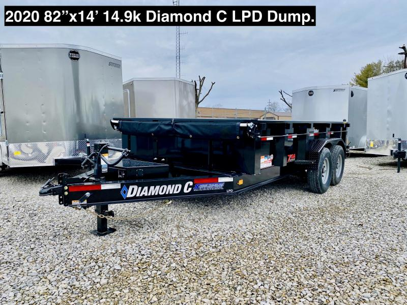 2020 14x82 14.9K Diamond C LPD Dump Trailer. 25303
