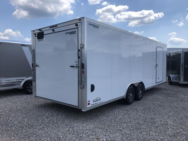 2020 LEGEND Explorer 8.5x24 Plus V-nose Aluminum Car Hauler 17622