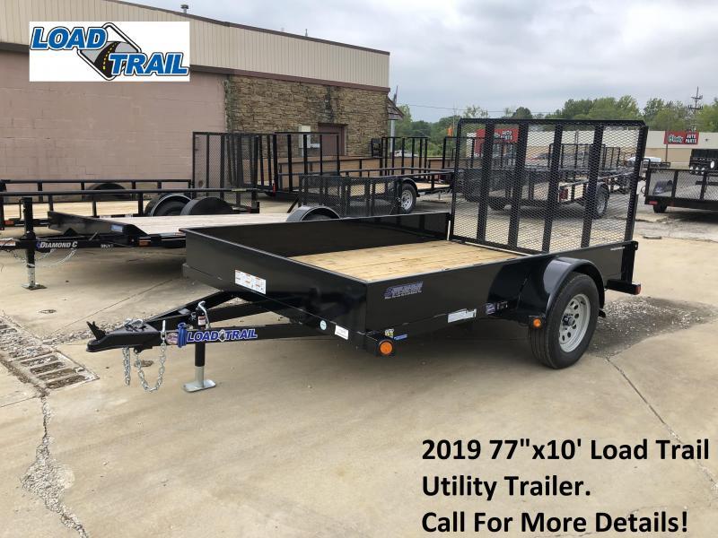 "2019 77""x10' Load Trail Utility Trailer. 70676"