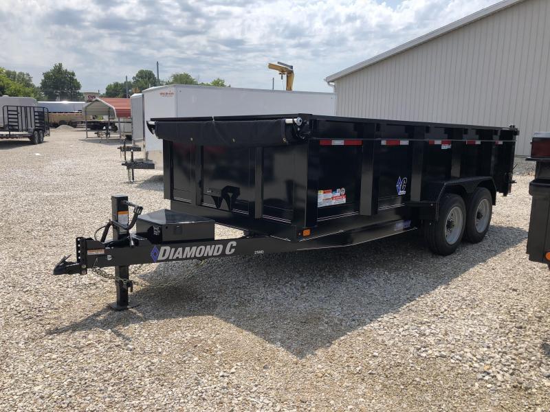 "2018 82""x16' 14900lb GVWR Diamond C Dump. 03236"