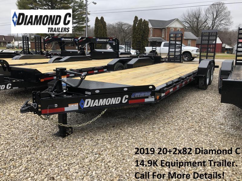 2019 20+2x82 14.9K Diamond C Equipment Trailer. 7541