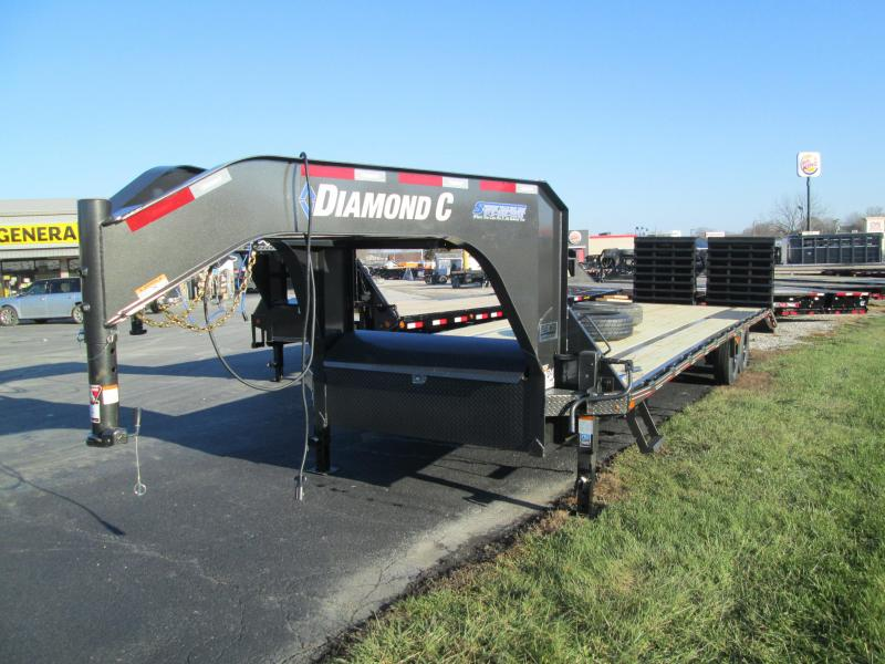 "2020 FMAX 207MR 25'+5'x102"" 15.5K Diamond C Engineered Beam Equipment Trailer. 21800"