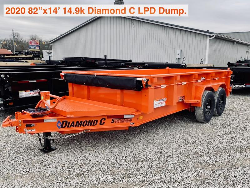 2020 14x82 14.9K Diamond C LPD Dump Trailer. 25683