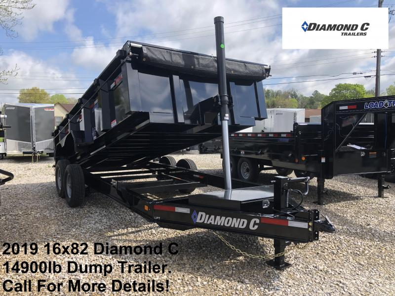 2019 16x82 14.9K Diamond C LPT Dump Trailer. 13714