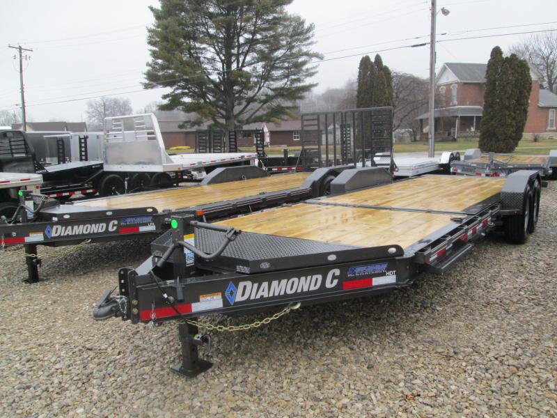"2020 16'+6'x82"" 14.9K Diamond C HDT Split Deck Tilt Equipment Trailer. 22928"