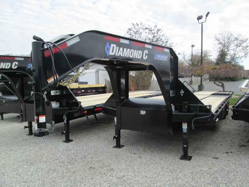 2020 FMAX 210HDT 30x102 25K Diamond C Engineered Beam Gooseneck Equipment Trailer. 20033