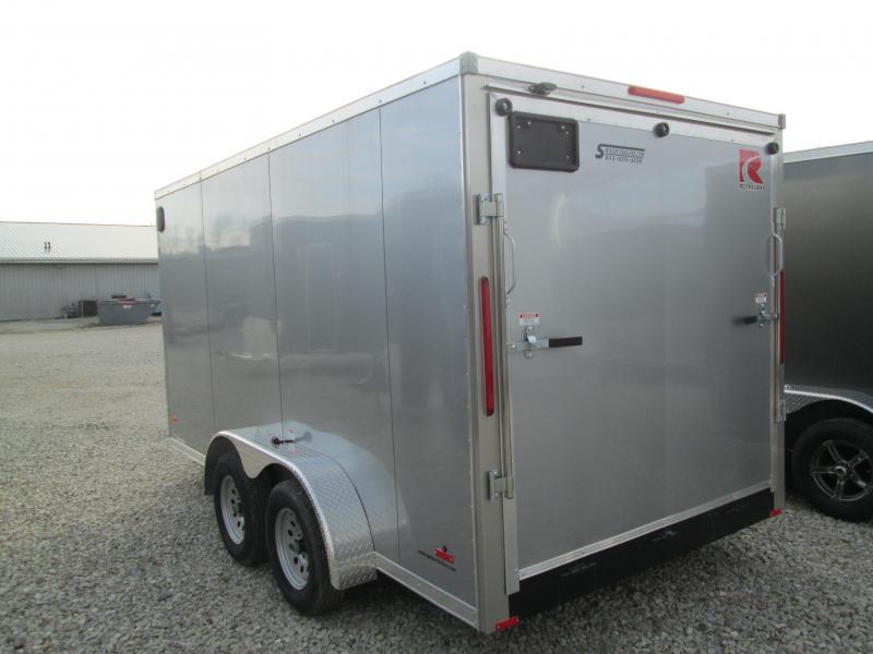 2020 7'x14' 7k RC Enclosed Flat Top Wedge Trailer with ramp door. 56787
