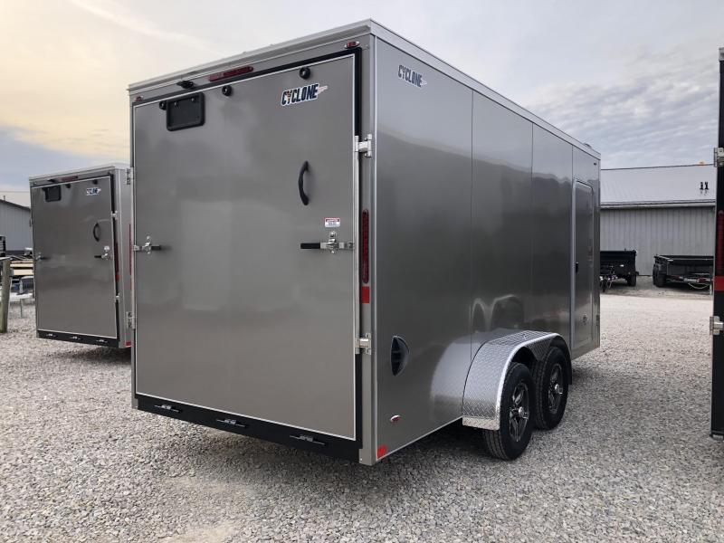 2020 7x16+V-Nose 7K Legend Cyclone Enclosed Trailer. 17619