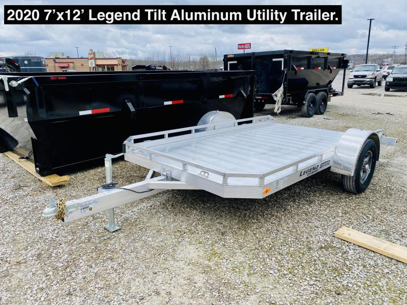 2020 7'x12' Legend Tilt Utility Trailer. 17763