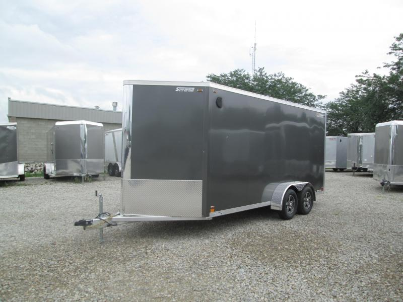 TIG-WELDED RAMP DOOR! 2020 LEGEND FTV 7x16 Plus V-nose Aluminum Trailer