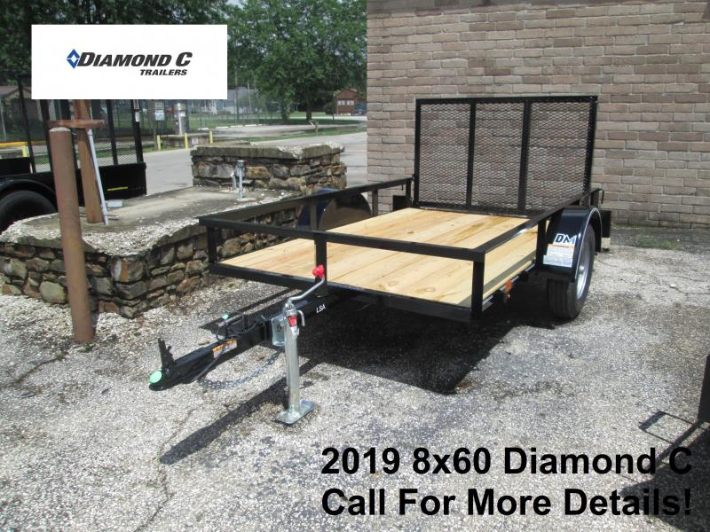 2019 5X8 Diamond C Utility Trailer. 15860