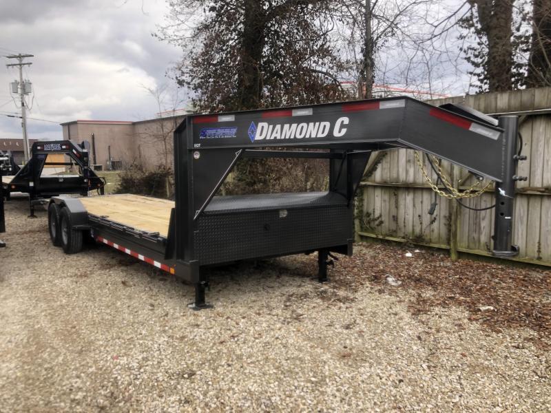 2020 24' 14.9K Diamond C EQT Gooseneck Equipment Tilt. 22537