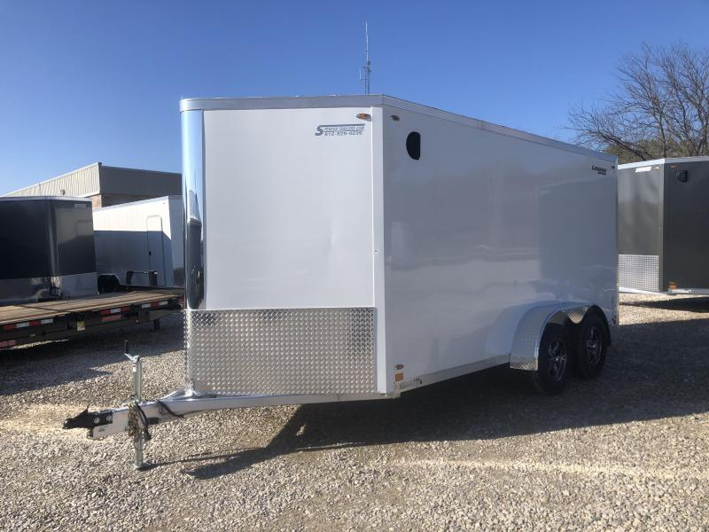 2020 LEGEND FTV 7x14 plus 3' V-nose, HD DOUBLE REAR DOORS. 17636