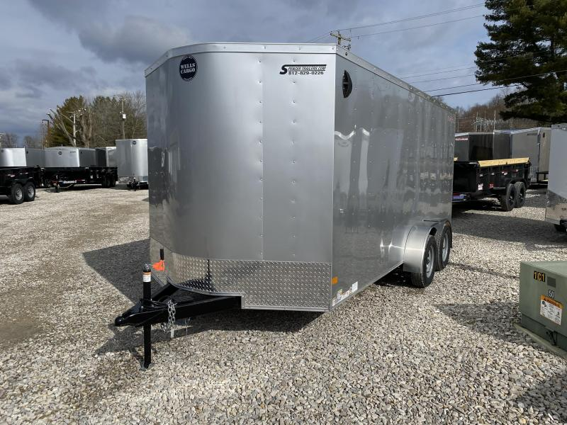 2020 7x16 7K Wells Cargo Enclosed Trailer. 00634
