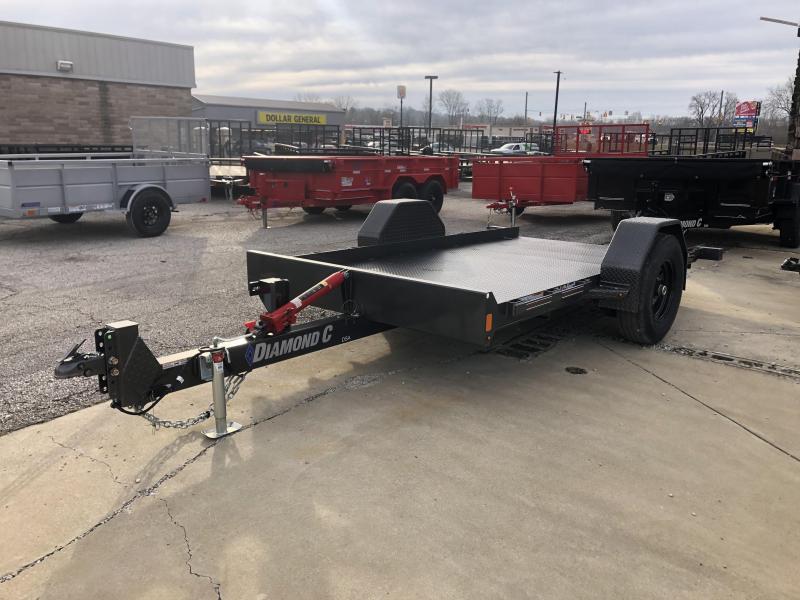 2020 12x77 7K Diamond C Single Axle Equipment Trailer. 23993