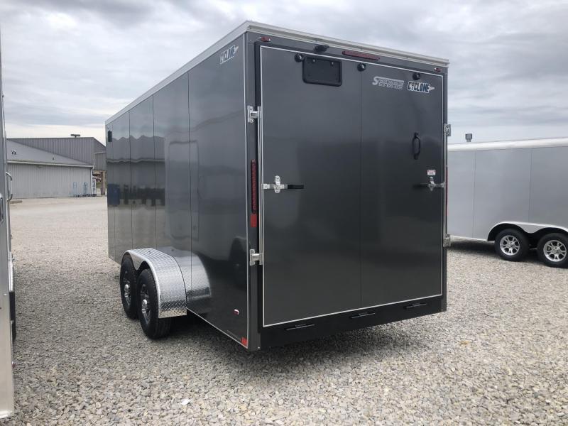 2020 7' TALL LEGEND STV Heavy Duty 7x18 plus V-nose Enclosed Cargo Trailer. 17401
