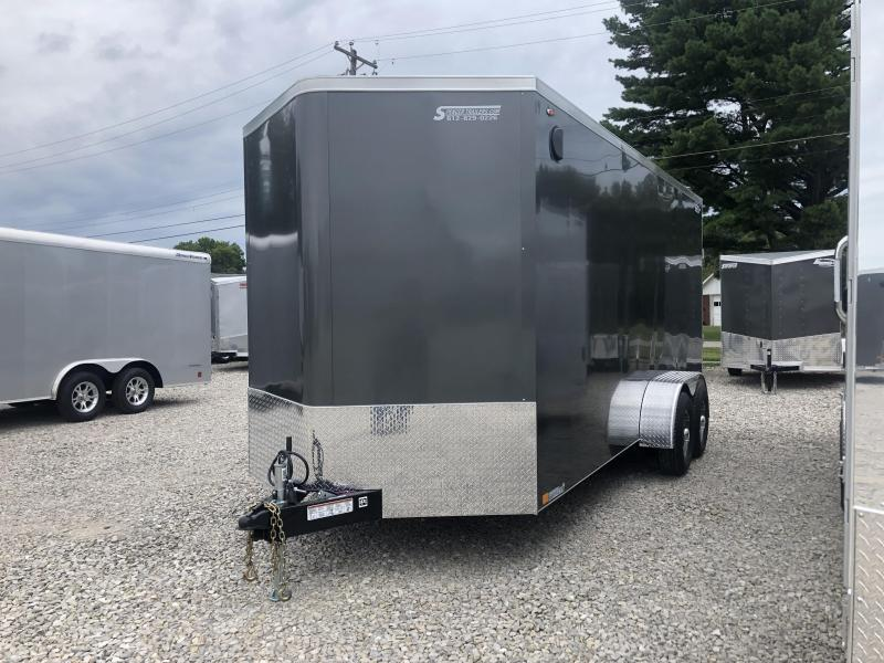 2020 7' TALL LEGEND STV Heavy Duty 7x18 plus V-nose Enclosed Cargo Trailer. 17401
